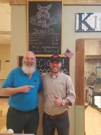 MSBBQTrail Founder Jim Hatten and Up in Smoke owner Robert Hill photo_Brandon, MS