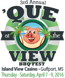 Que at the View in Gulfport logo