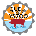 Que on the Yazoo logo