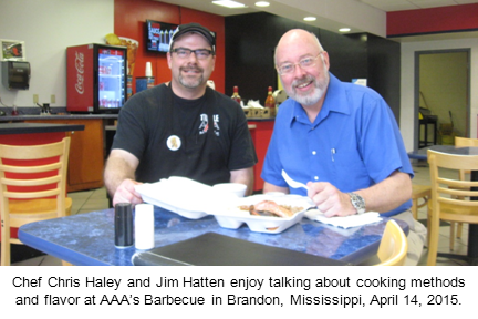 Photo of Jim. Hatten at AAA's Barbecue at Fannin Road Exxon for BBQ Ribs and Brisket on April 14, 2015 in Brandon, Mississippi.