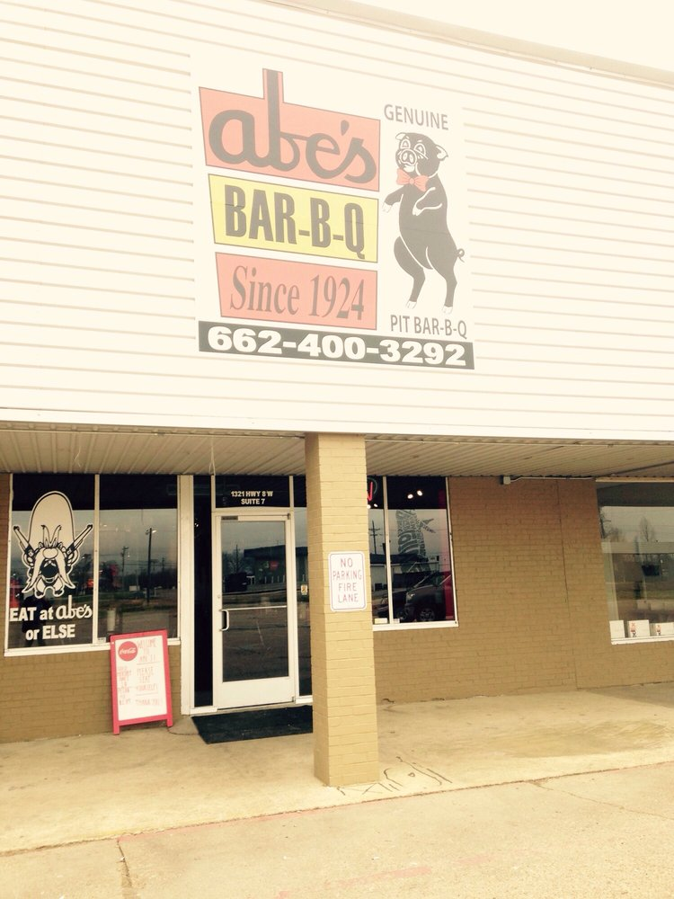 Abe's Bar-B-Q restaurant exterior photo by Steven L. as posted on Yelp March 9, 2017 in Cleveland, Mississippi