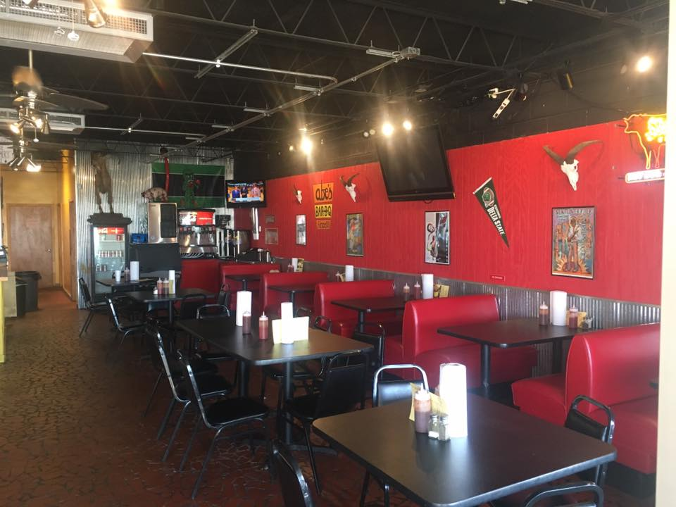 Abe's Bar-B-Q restaurant interior in Cleveland, Mississippi
