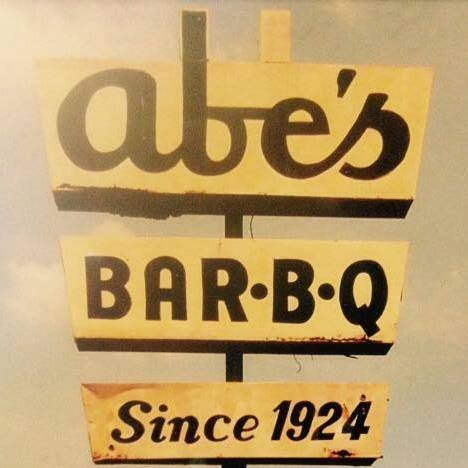 Abe's Bar-B-Q logo and website link in Cleveland,MS