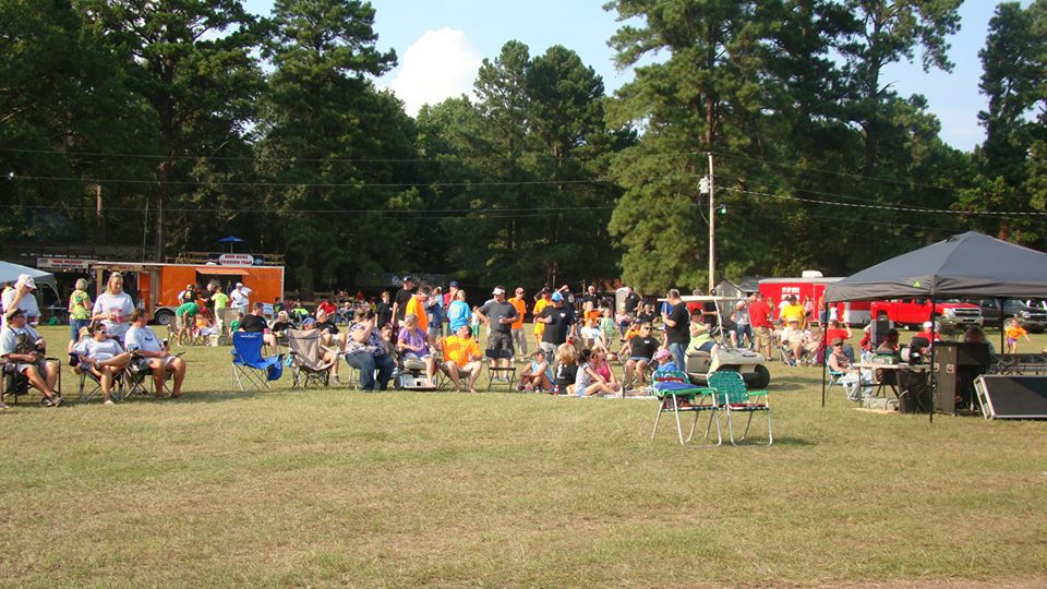 Festival goers watch the entertainment at Roast-N-Boast 2013 in Columbus, MS